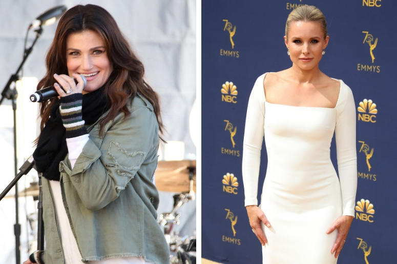 Idina Menzel and Kristen Bell