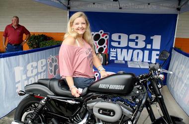 Valerie Howerton of Kernersville - winner of The Wolf's Smokin' Harley