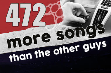 93.1 The Wolf played 472 more songs this week than the other guys