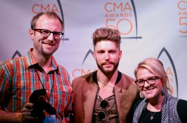 Chris Lane with Clay & Corie