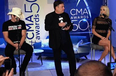 CMA Awards - Brad and Carrie Press Conference