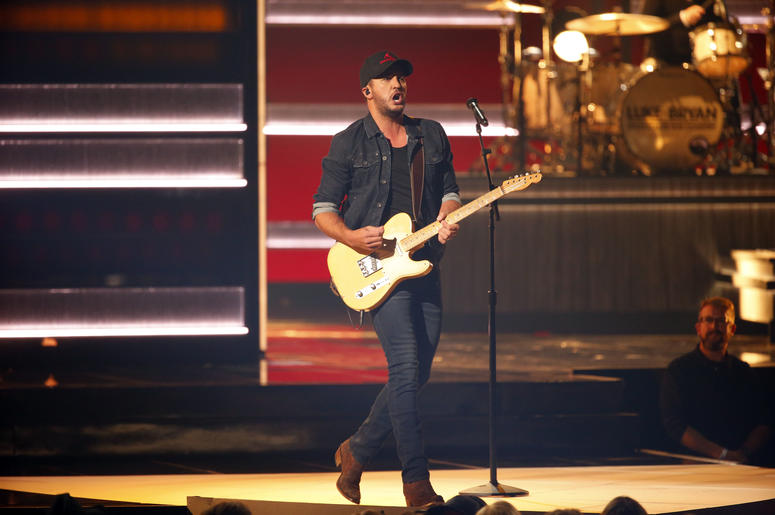 Luke Bryan appears on the 52nd Annual CMA Awards at the Bridgestone Arena on November 14, 2018 in Nashville, Tennessee