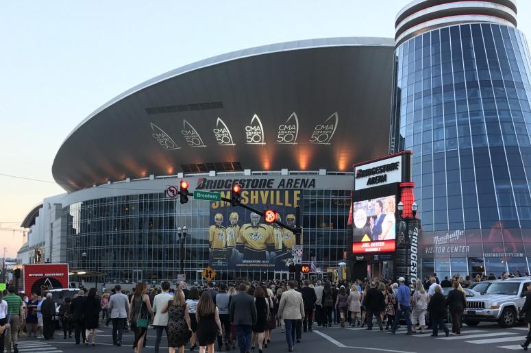 Nashville's Bridgestone Arena beofre the 50th CMA Awards
