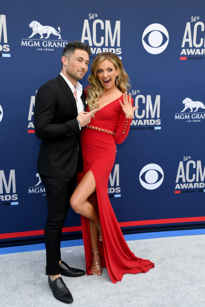 Michael Ray and Carly Pearce attends the 54th Academy Of Country Music Awards at MGM Grand Hotel & Casino on April 07, 2019 in Las Vegas, Nevada