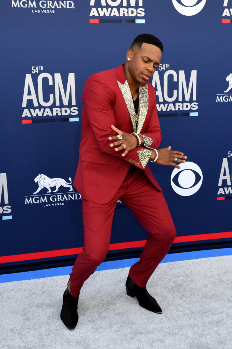Jimmie Allen attends the 54th Academy Of Country Music Awards at MGM Grand Hotel & Casino on April 07, 2019 in Las Vegas, Nevada