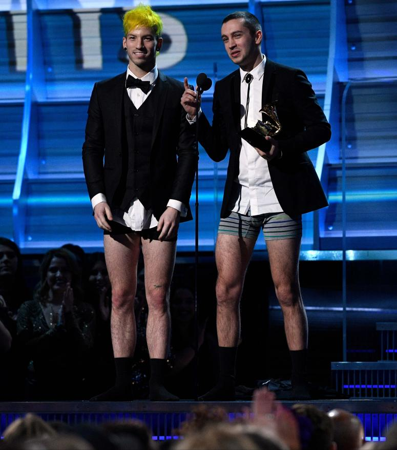 Twenty One Pilots Grammys Pantless