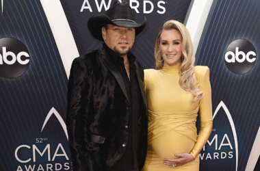 Jason Aldean and Brittany Kerr at the 52nd Annual CMA Awards at the Bridgetone Arena on November 14, 2018 iin Nashville, Tennessee