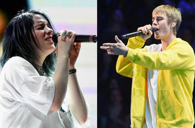 bbd0ce718cd The Moment When Billie Eilish Finally Met Justin Bieber