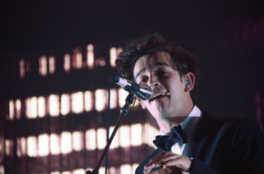 Matthew Healy of The 1975 performing live on stage at the Roundhouse