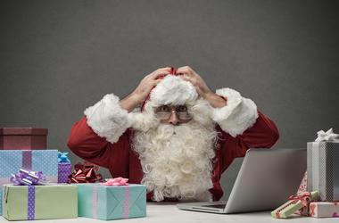 Stressed Santa