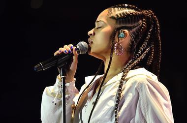 Ella Mai performing at BBC Radio 1Xtra Live