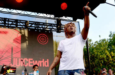 Juice Wrld performs onstage during the 2018 Made In America Festival - Day 1 at Benjamin Franklin Parkway on September 1, 2018 in Philadelphia, Pennsylvania.