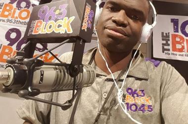 JJ Solomon in the Rimtyme of Greenville Studios of The Block 96-3 in Greenville, 104-5 in Spartanburg