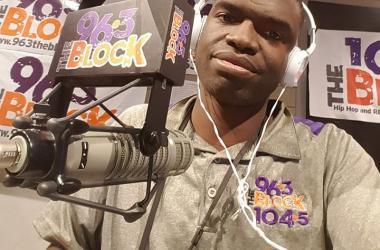 JJ Solomon in the Rimtyme of Greenville Studios of The Block 96-3 in Greenville, 104-5 in Spartanburg