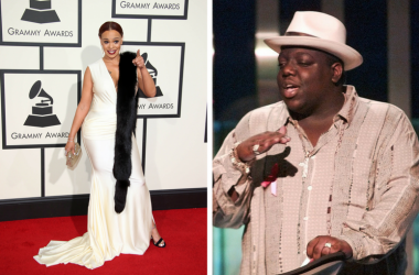 Faith Evans arriving at the 58th Grammy Awards / Biggie (Notorious BIG) at MTV Music Video Awards