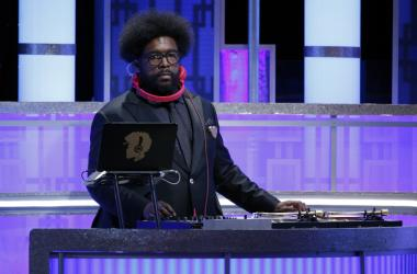 Questlove the onstage dj during the 74th Golden Globe Awards at Beverly Hilton.