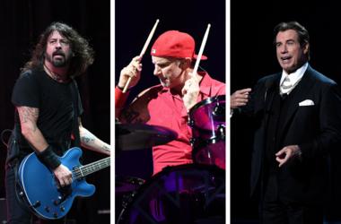 Foo Fighters Chad Smith and John Travolta