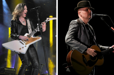 Lzzy Hale and Billy Corgan