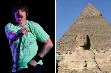 Anthony Kiedis and the Giza pyramid complex