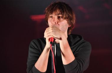 Recording artist Thomas Mars of the band Phoenix performs at the Fillmore.