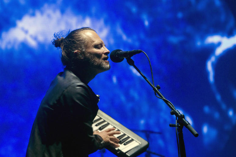 Thom Yorke of Radiohead performs on the Coachella Stage