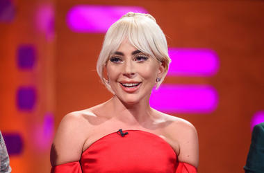 Lady Gaga during the filming of the Graham Norton Show