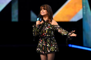Paula Abdul on stage at the We Day UK charity event and concert