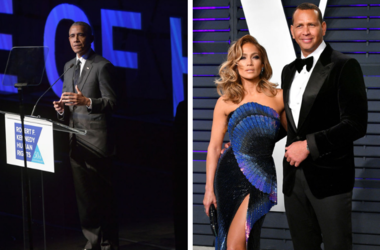 President Barack Obama wrote Jennifer Lopez and Alex Rodriguez a note