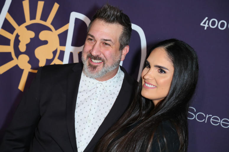 "Joey Fatone and his wife Kelly Fatone attend New Starz Series ""Now Apocalypse"" Premiere - Arrivals at Hollywood Palladium on February 27, 2019 in Los Angeles, California"