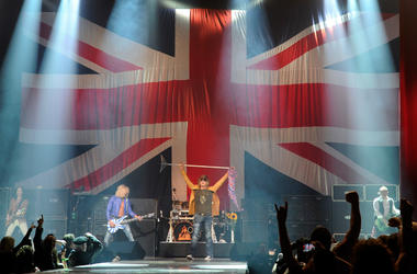 Def Leppard performs on the opening night of 'VIVA Hysteria!,