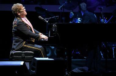 Elton John performs during his 'Farewell Yellow Brick Road' tour at Madison Square Garden on October 18, 2018 i