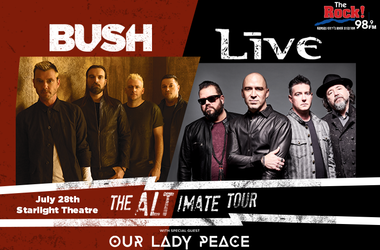 LIVE, Bush & Our Lady Peace
