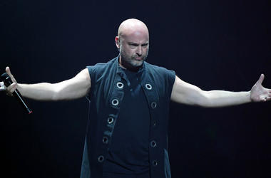 David Draiman of Disturbed performs at T-Mobile Arena on January 12, 2019