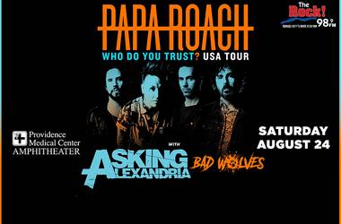 Papa Roach Who Do You Trust Tour