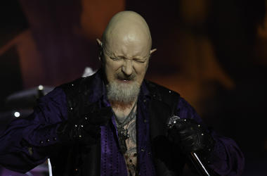 Rob Halford of Judas Priest in concert