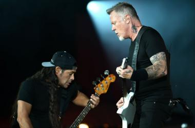Robert Trujillo and James Hetfield of Metallica