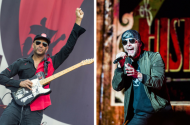 Tom Morello of Prophets of Rage and M. Shadows of Avenged Sevenfold