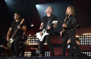 Metallica performs onstage