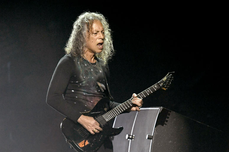 Kirk Hammett performs at I Am The Highway: A Tribute to Chris Cornell at the Forum on January 16, 2019