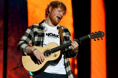 Ed Sheeran performing in Perth