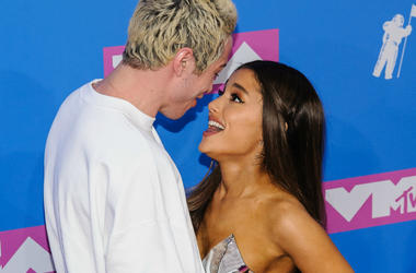 Pete Davidson, Ariana Grande. 2018 MTV Video Music Awards at Radio City Music Hall