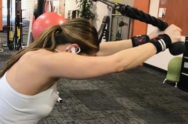 Elizabeth Kay working out