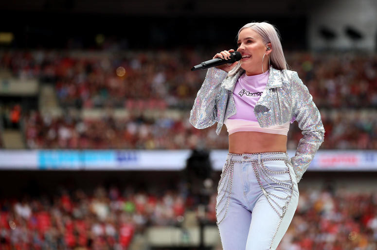 Anne-Marie on stage during Capital's Summertime Ball