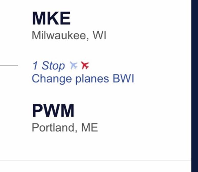 Milwaukee to Portland, ME