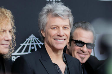 Jon Bon Jovi on the red carpet before the 2018 Rock and Roll Hall of Fame Induction ceremony