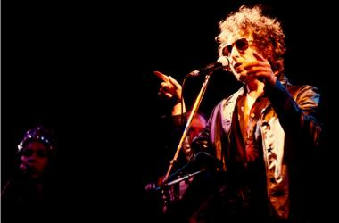 Bob Dylan performs onstage