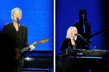 Lindsey Buckingham and Christine McVie of Fleetwood Mac perform at Bridgestone Arena