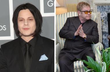 Musicians Jack White and Elton John