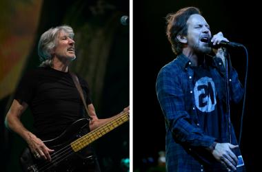Roger Waters of Pink Floyd and Eddie Vedder of Pearl Jam