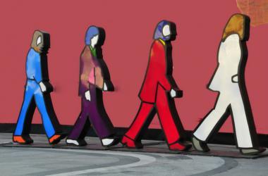 The Beatles cutout